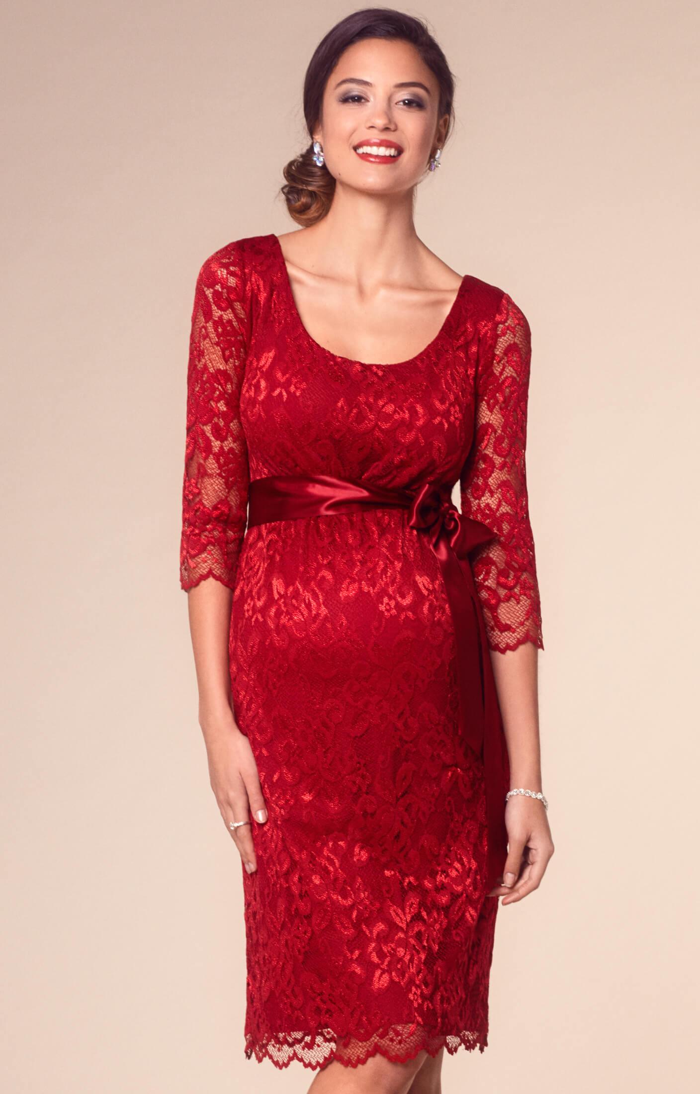 Katie Maternity Dress Short Rouge - Brudklänningar 28c2d5191f51d