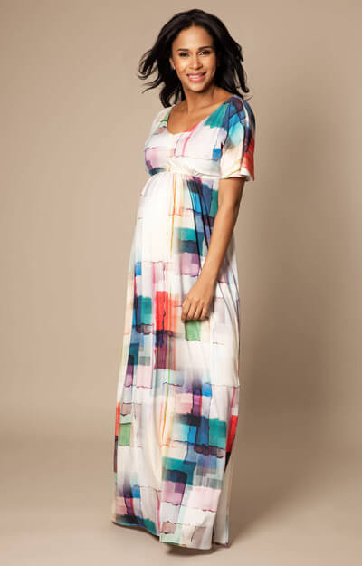 Kimono Maxi Maternity Dress Colour Palette by Tiffany Rose