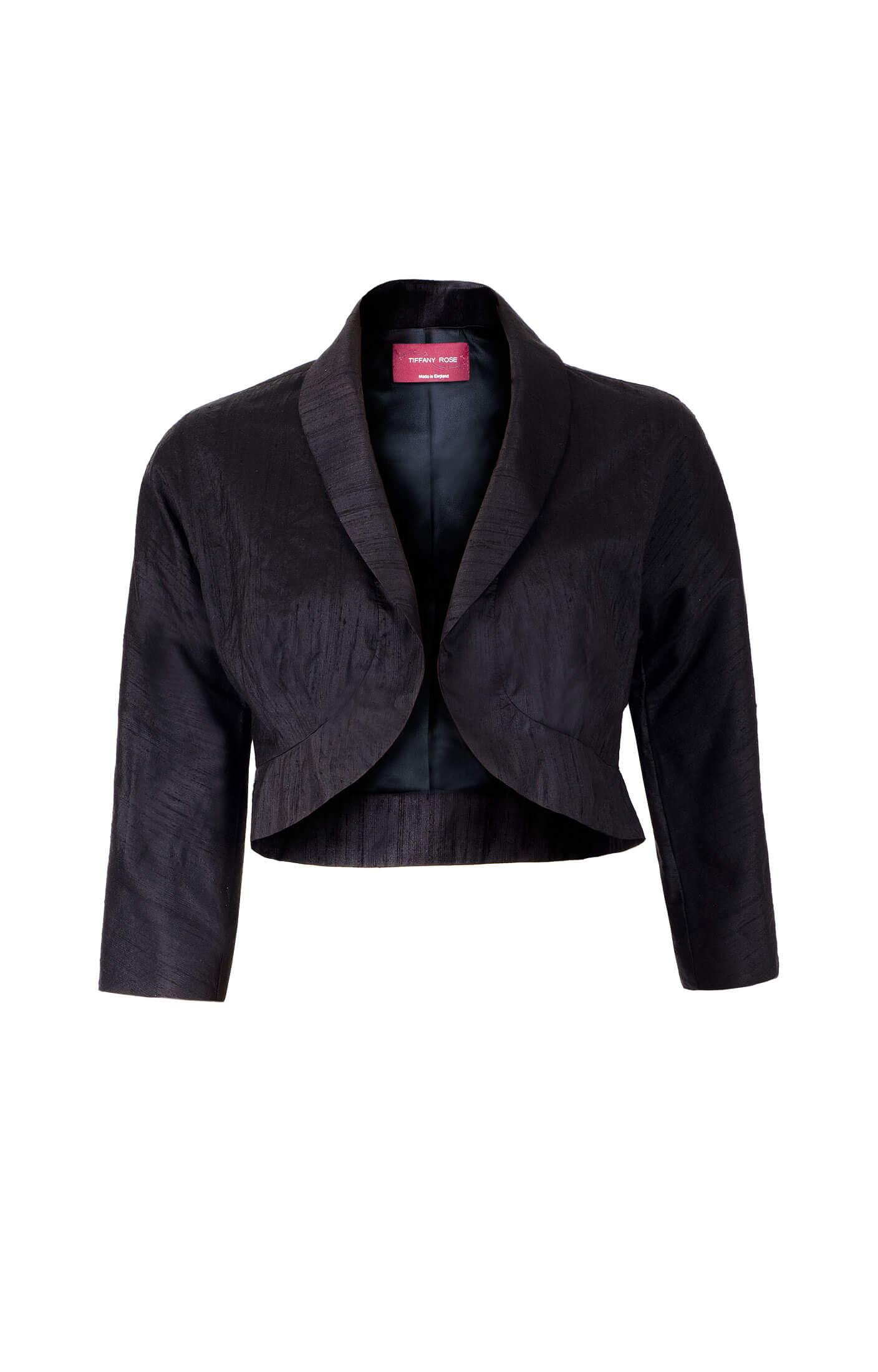 Silk Maternity Kimono Jacket (Black)