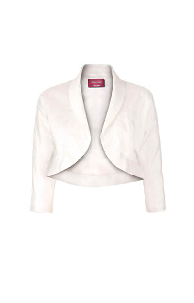 Silk Maternity Kimono Jacket (Ivory) by Tiffany Rose