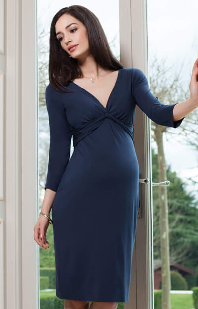 Lara Maternity Dress Bijou Blue by Tiffany Rose