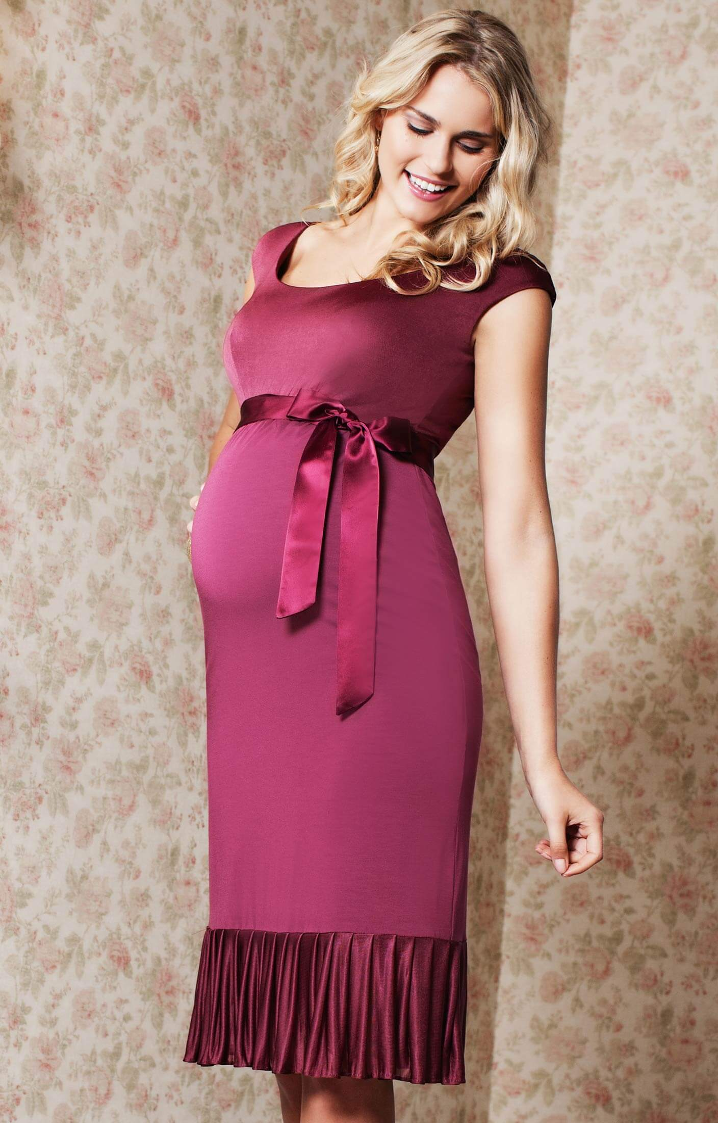 lauren maternity dress raspberry spice   brudkl nningar