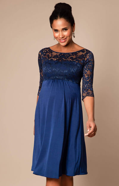 Lucia Maternity Dress short Imperial Blue by Tiffany Rose