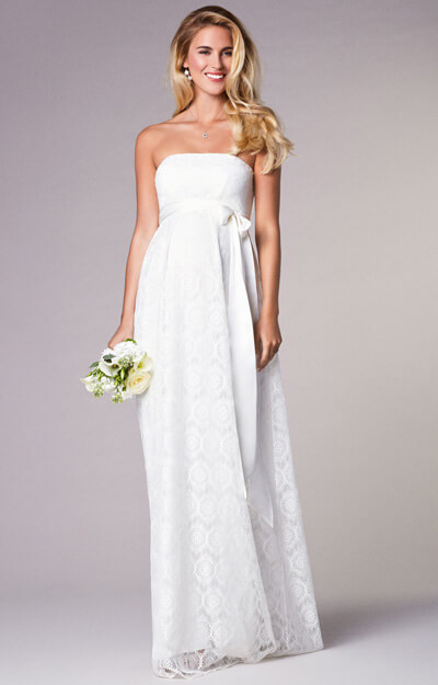 Liara Maternity Wedding Lace Gown Long Ivory by Tiffany Rose