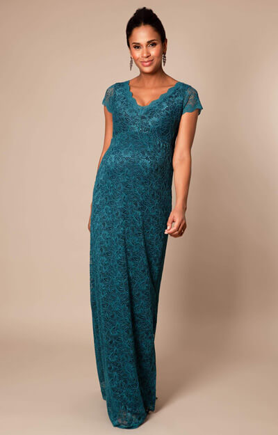 Laura Maternity Gown Long Ocean Green by Tiffany Rose