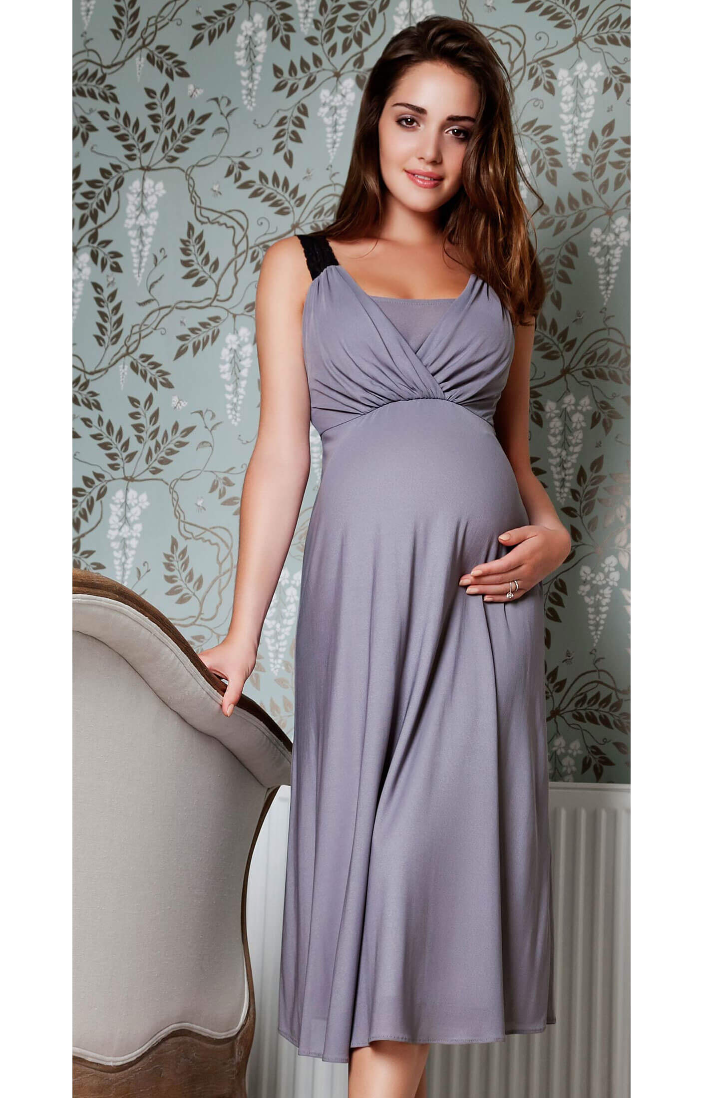 Luella Maternity Night Gown - Maternity Wedding Dresses, Evening ...