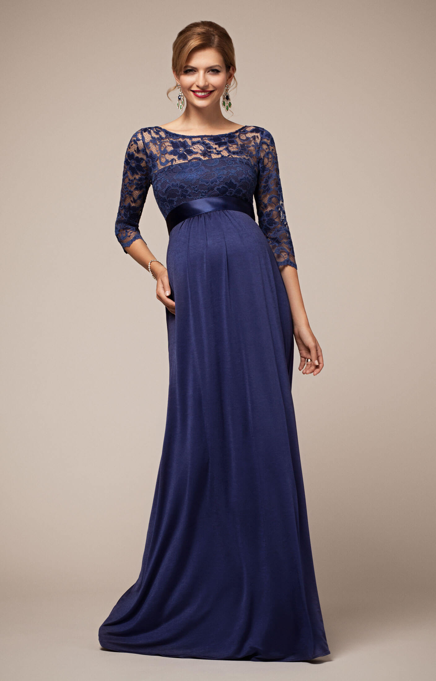 Lucia maternity gown windsor blue maternity wedding for How to dress for an evening wedding