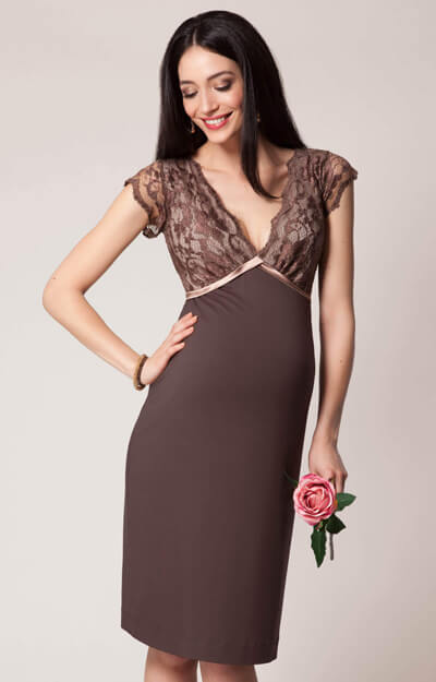 Luella Maternity Shift Dress Amaretto by Tiffany Rose