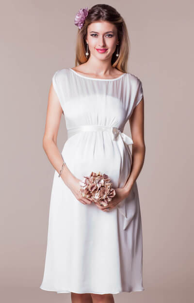 Maya Maternity Wedding Gown Short Ivory by Tiffany Rose