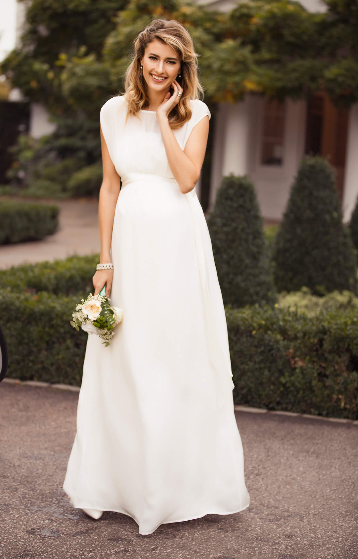 Maya maternity wedding gown long ivory maternity wedding dresses maya maternity wedding gown long ivory by tiffany rose ombrellifo Gallery