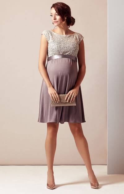 Mia Maternity Dress Dusky Truffle by Tiffany Rose