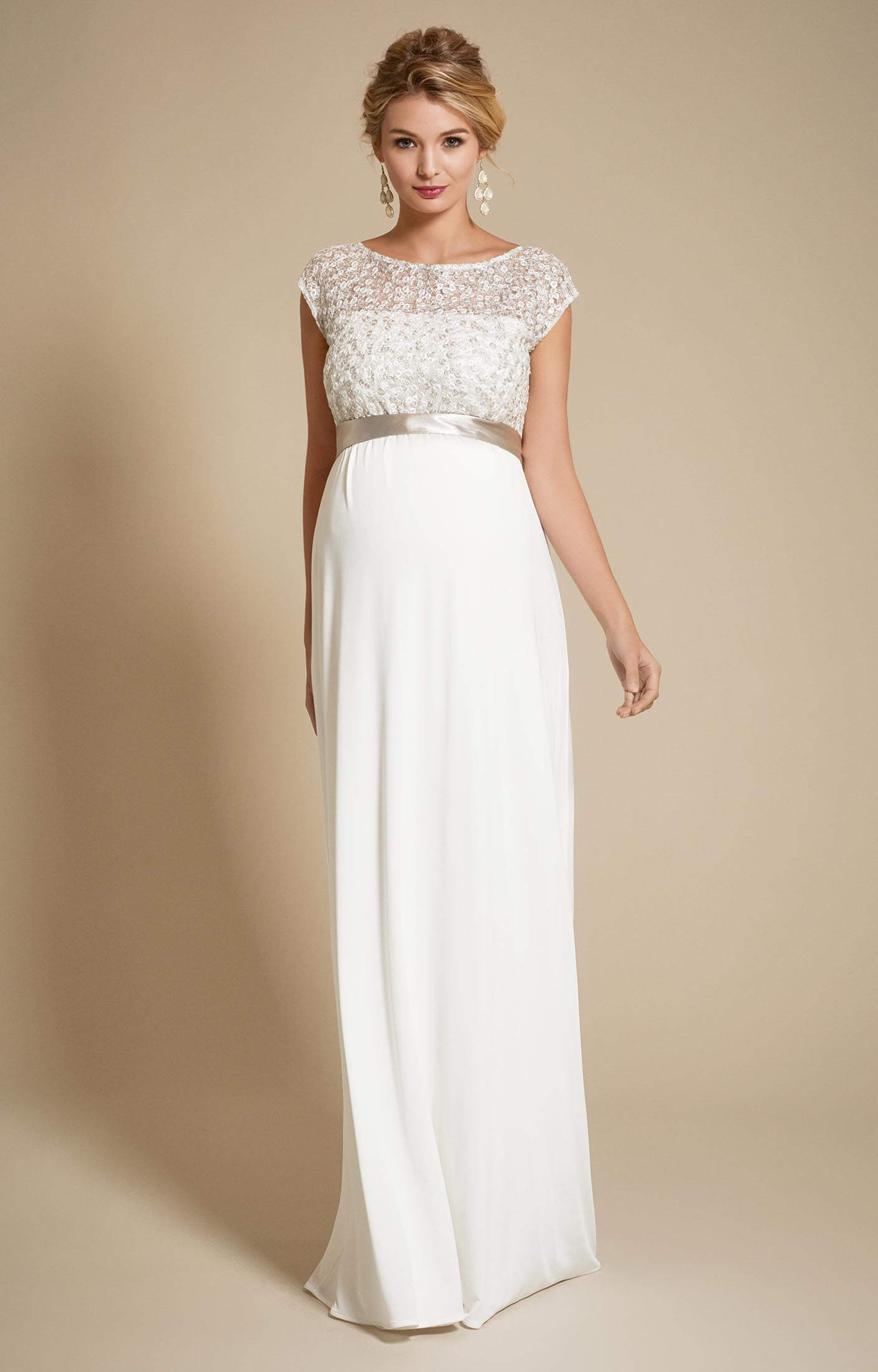 Mia Maternity Wedding Gown in Ivory