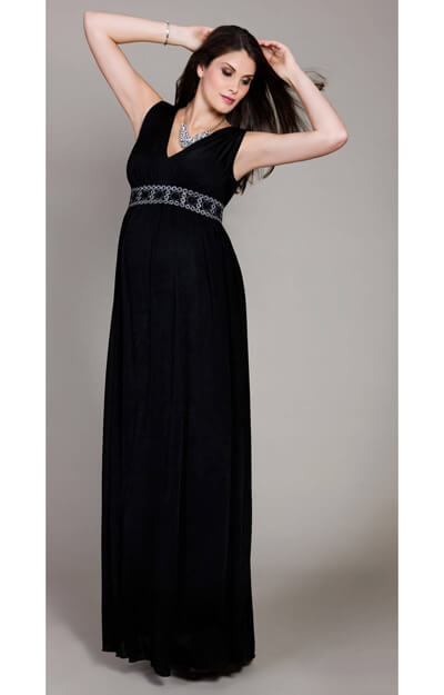 Midnight Maternity Gown by Tiffany Rose