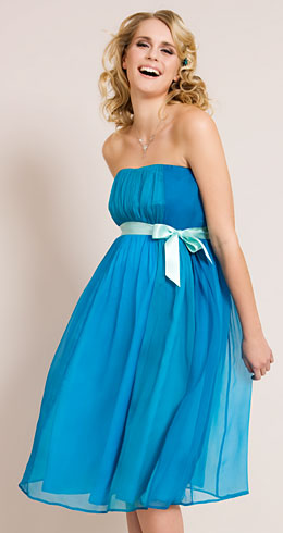 Ocean Blue Maternity Gown - Maternity Wedding Dresses, Evening Wear ...