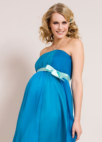 Ocean Blue Maternity Gown - Maternity Wedding Dresses, Evening Wear ...