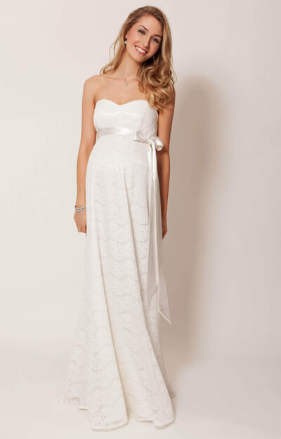 Olivia Maternity Wedding Gown (Ivory) by Tiffany Rose