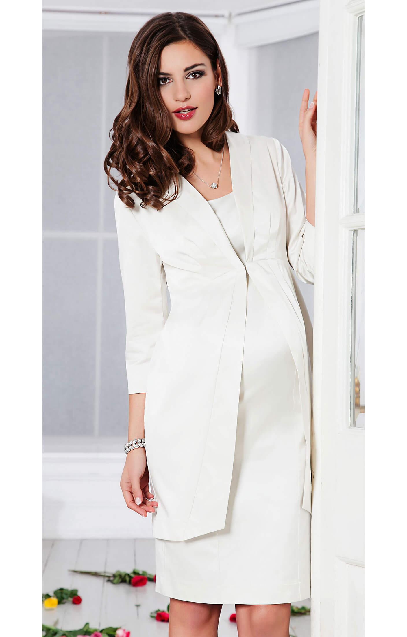 Oria Wedding Coat Ivory Maternity Wedding Dresses