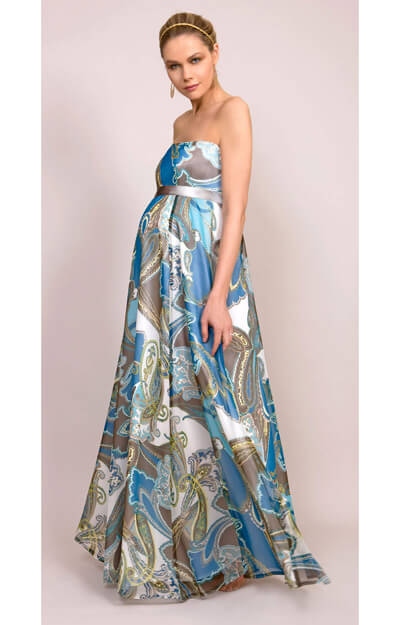 Paisley Maternity Gown (Long) by Tiffany Rose