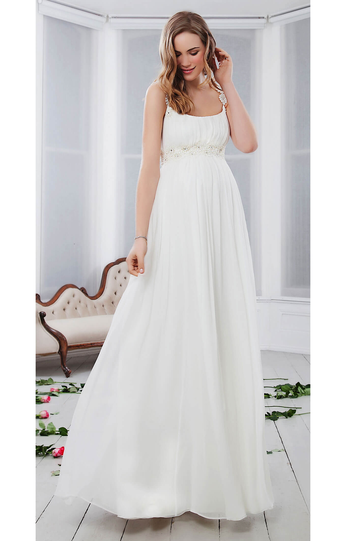 Prairie Daisy Silk Maternity Gown Maternity Wedding Dresses Evening Wear And Party Clothes By Tiffany Rose Us,Stylish Beautiful Dresses To Wear To A Wedding As A Guest