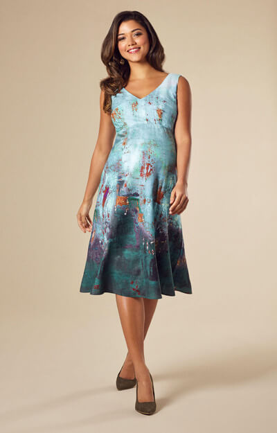 Ria Maternity Dress Short Aquatic Ombre by Tiffany Rose