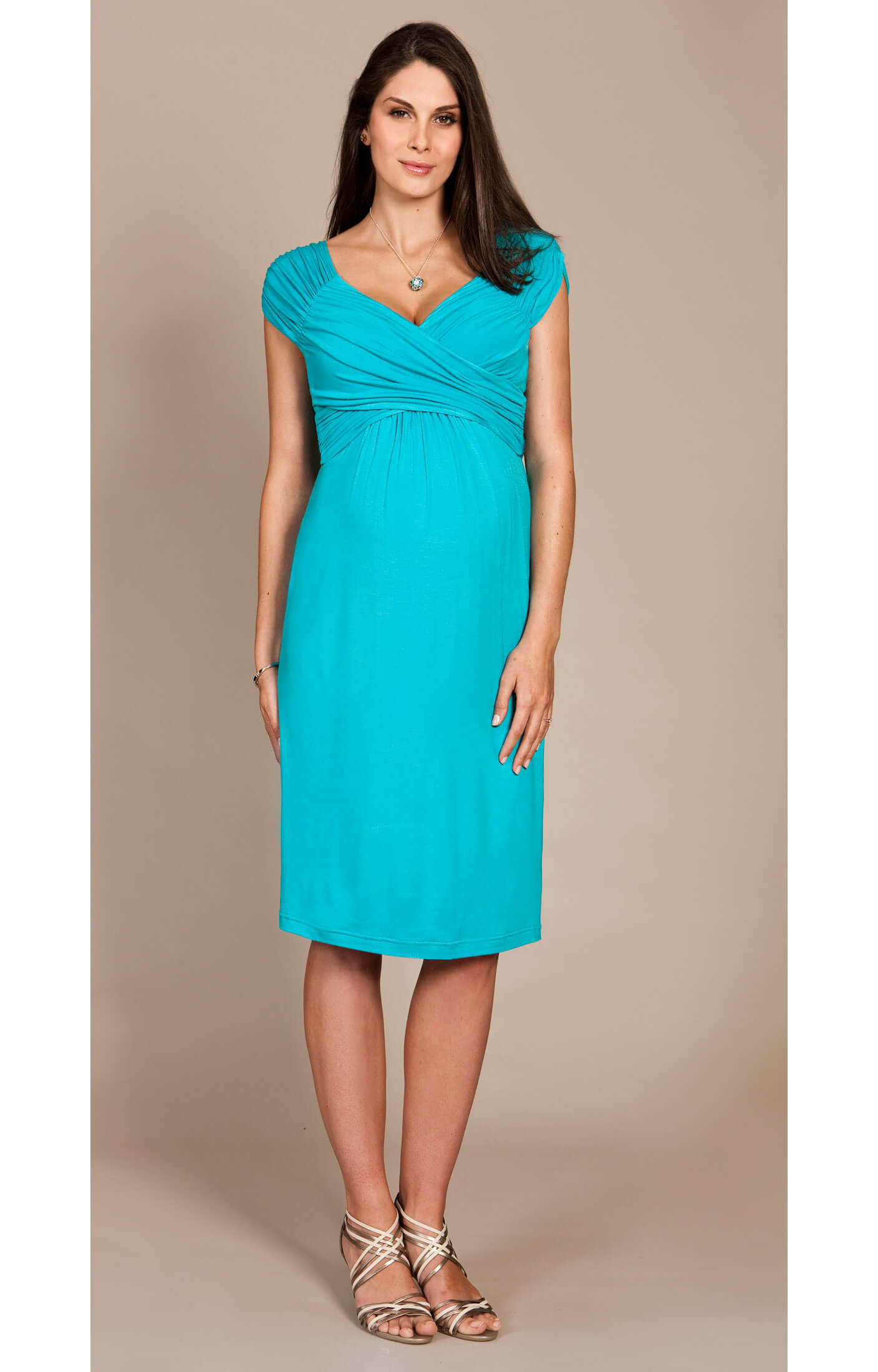 Riviera Maternity Dress (Peacock Blue) - Maternity Wedding Dresses ...