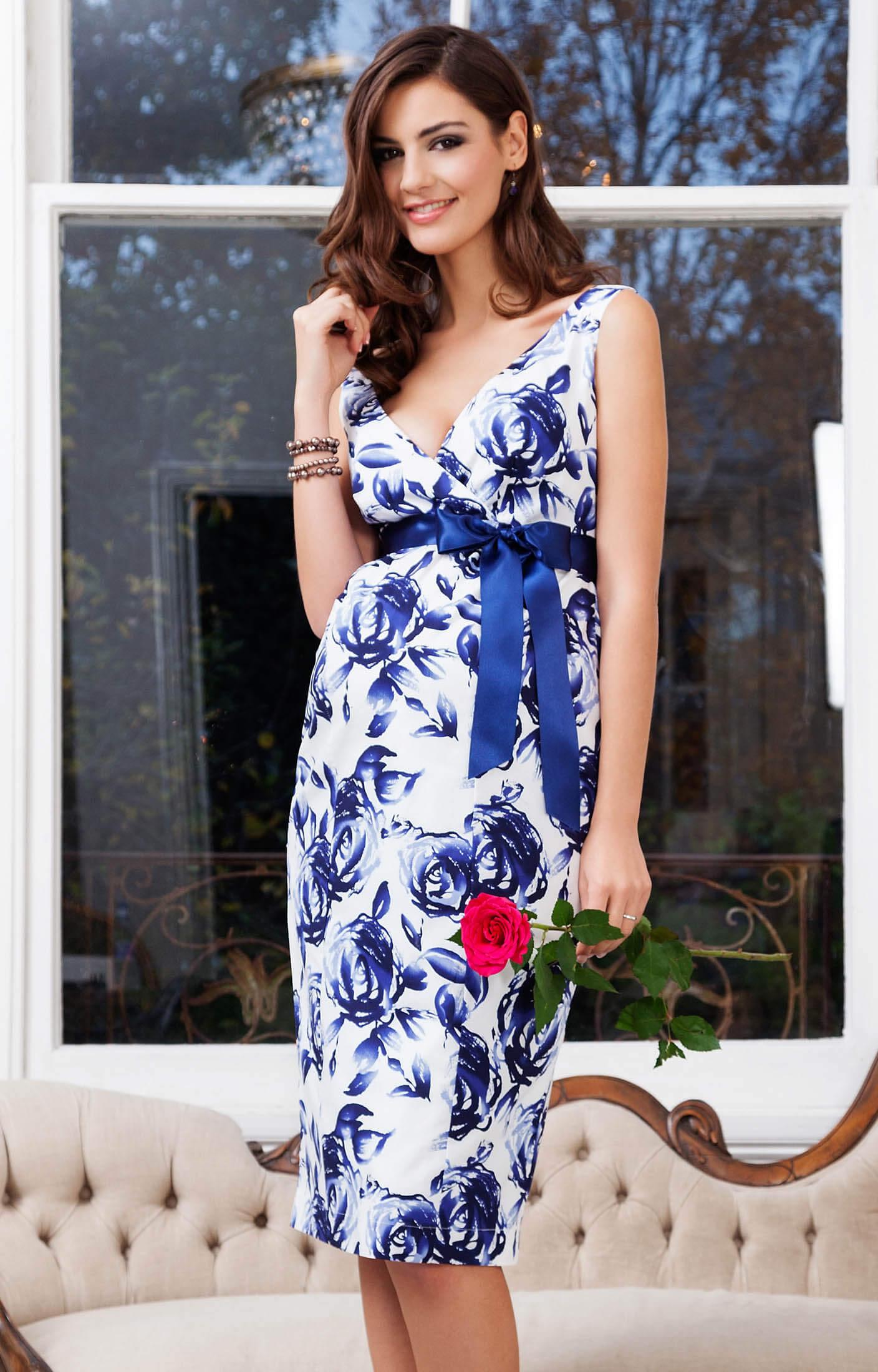 Riviera Maternity Dress Orient Blue Maternity Wedding