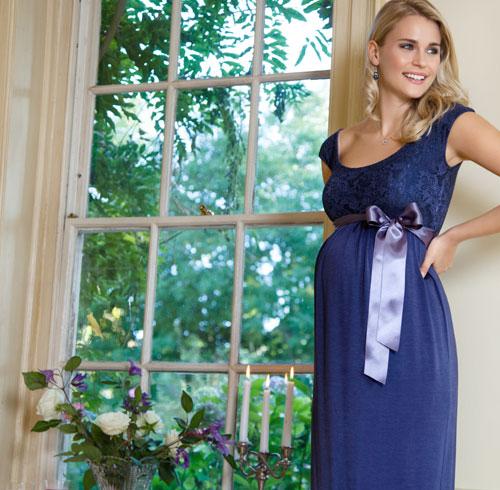 Rosabelle Maternity Dress Sapphire - Maternity Wedding Dresses ...