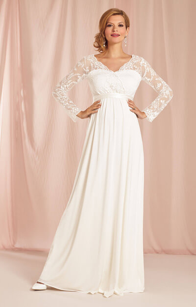 Rosalina Maternity Wedding Gown Ivory by Tiffany Rose