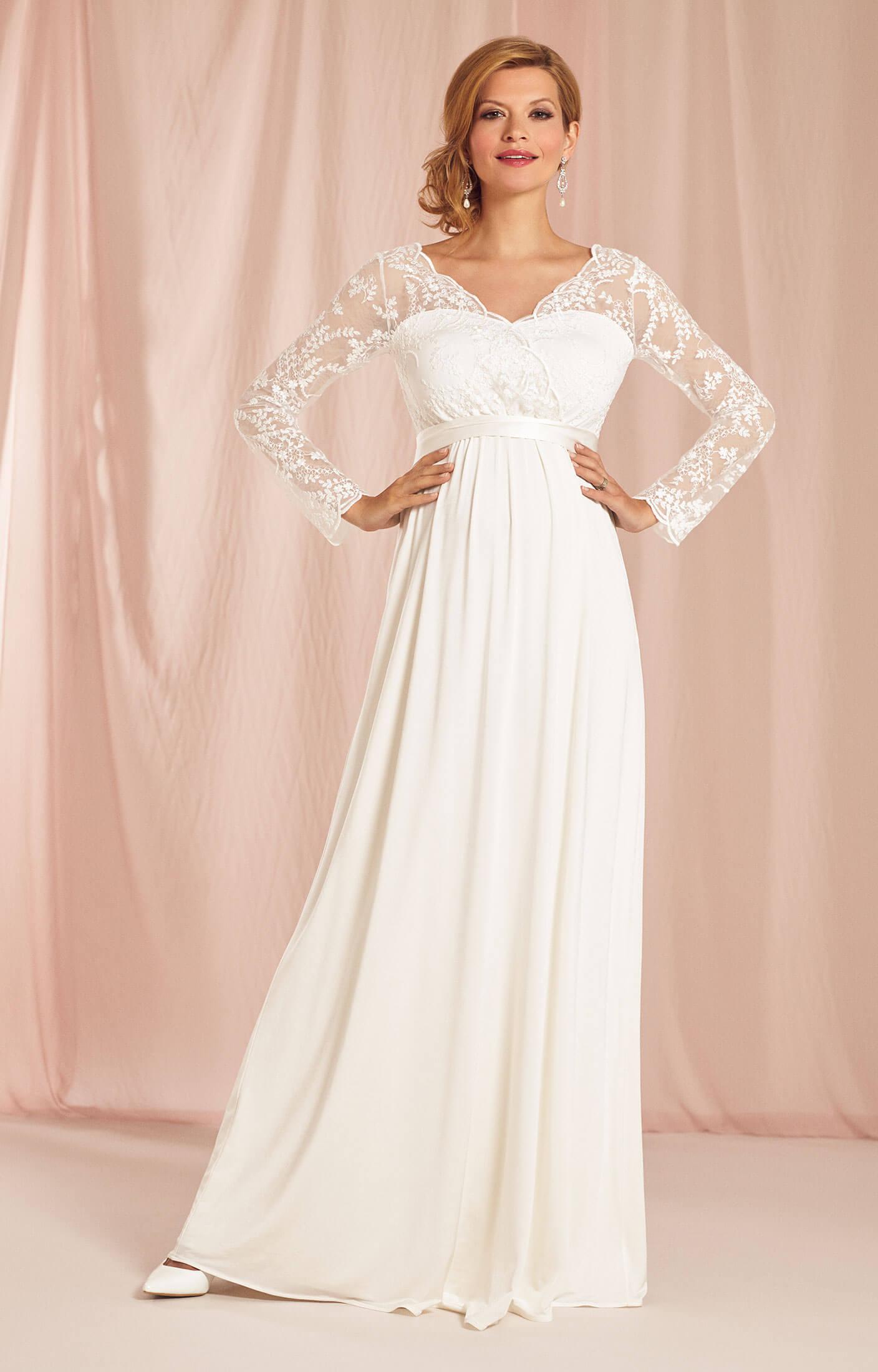 Rosalina maternity wedding gown ivory maternity wedding for Ivory maternity wedding dresses