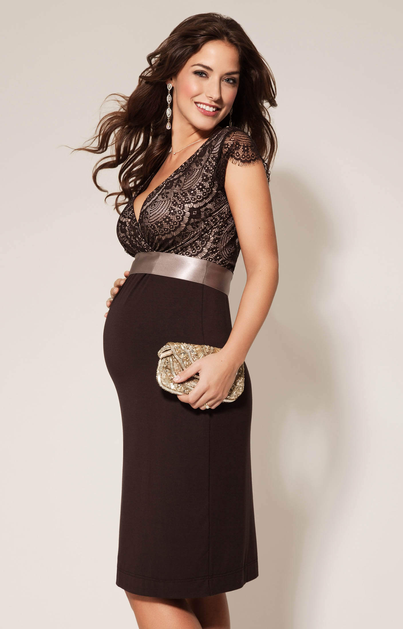 Rosa Maternity Dress Mocha - Maternity Wedding Dresses, Evening Wear ...