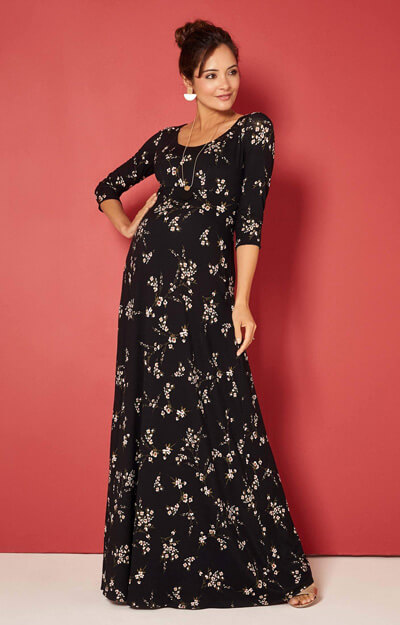 Samantha Maternity Maxi Dress in Night Blossom by Tiffany Rose
