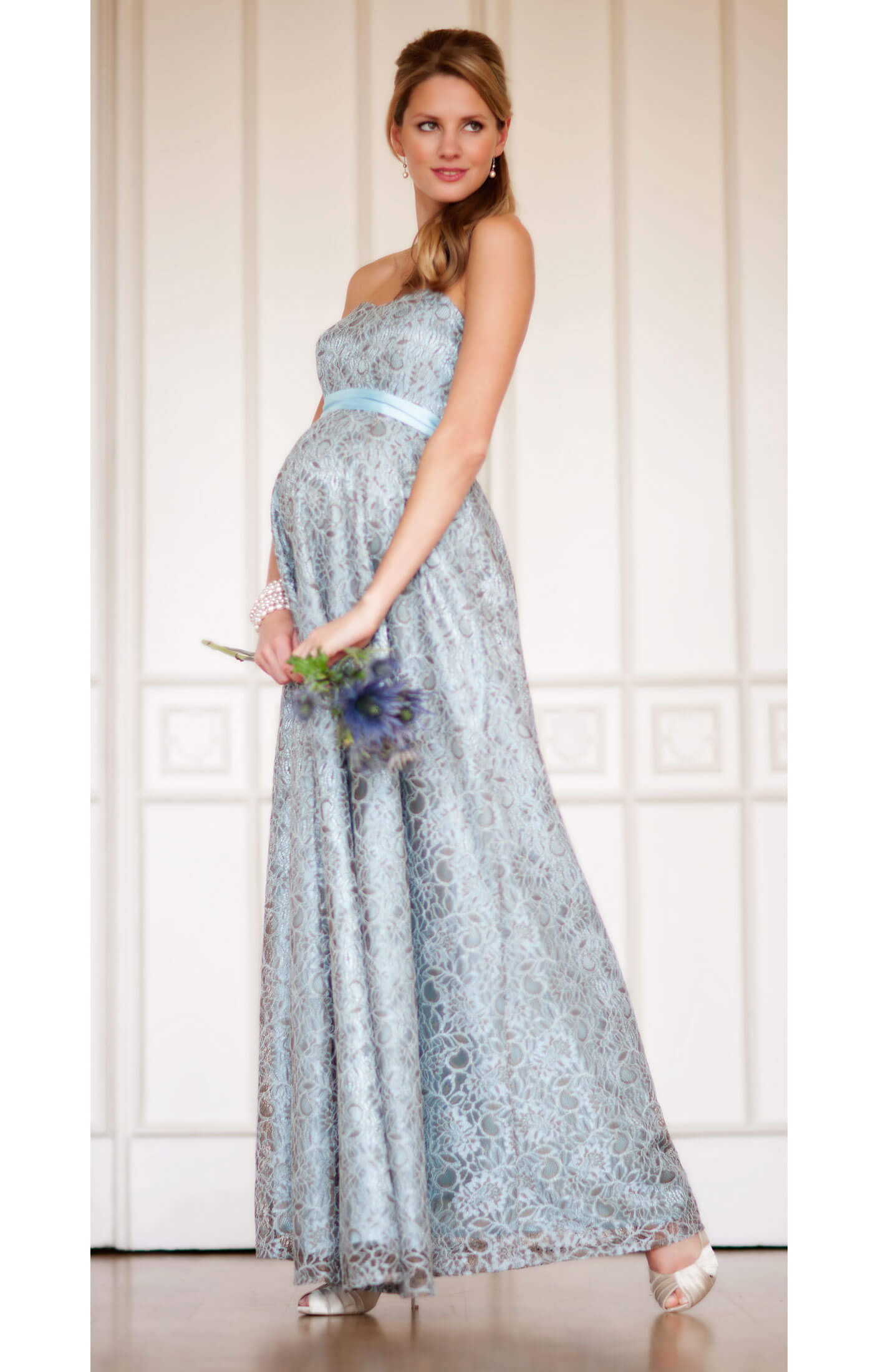 Savona Maternity Gown (Blue) - Maternity Wedding Dresses, Evening ...