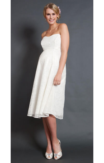 Savona Ivory Maternity Wedding Gown (Short) by Tiffany Rose
