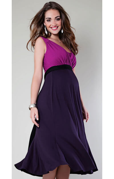 Swing Berry Jersey Maternity Dress by Tiffany Rose