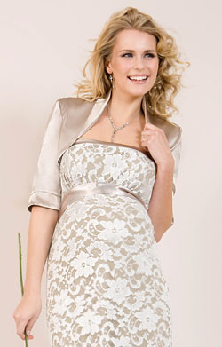 Satin Wedding Bolero (Oyster)