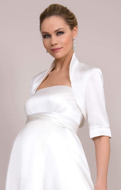 Silk Satin Wedding Bolero (Ivory) by Tiffany Rose