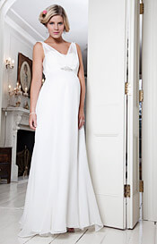 Silk Crystal Maternity Gown (Ivory)
