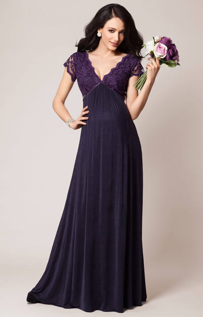 Sevilla Maternity Gown Long Blackberry by Tiffany Rose