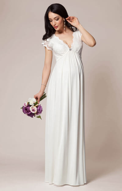 Sevilla Maternity Wedding Gown Long Ivory by Tiffany Rose
