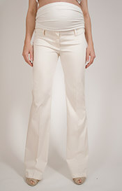 SlimFit Maternity Trousers (Cream)
