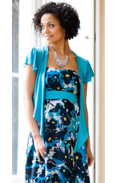 Maternity Shrug (Sky Blue) by Tiffany Rose