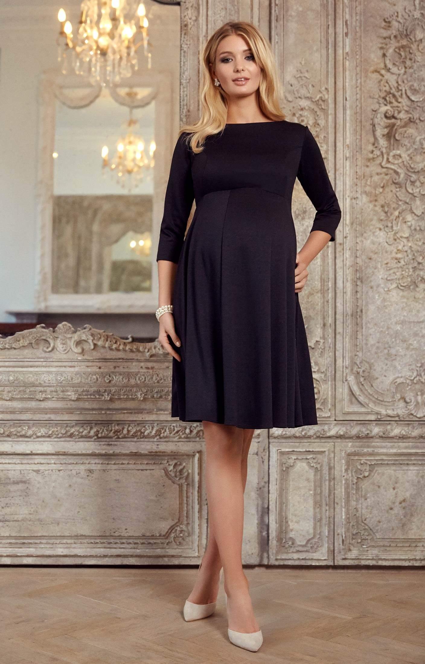 Umstandsmoden-Kleid Sienna kurz schwarz - Umstandshochzeitskleider ...