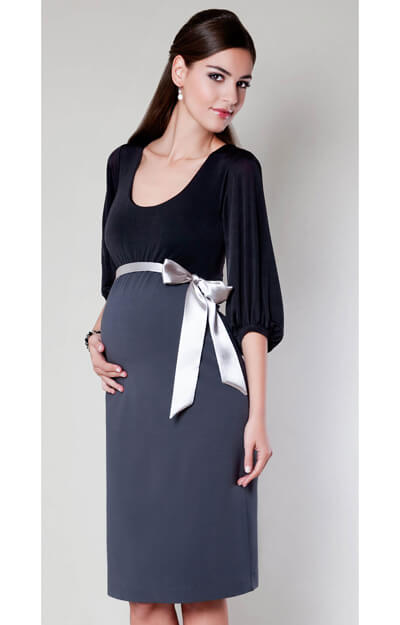Sienna Maternity Dress (Dark Truffle) by Tiffany Rose