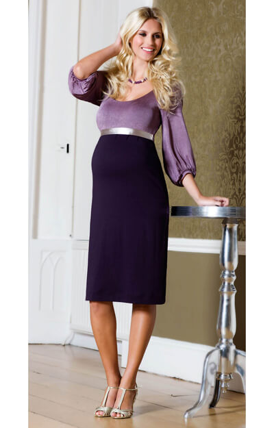 Sienna Maternity Dress (Heather) by Tiffany Rose