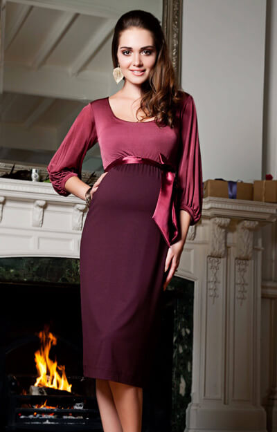 Sienna Maternity Dress (Spice) by Tiffany Rose