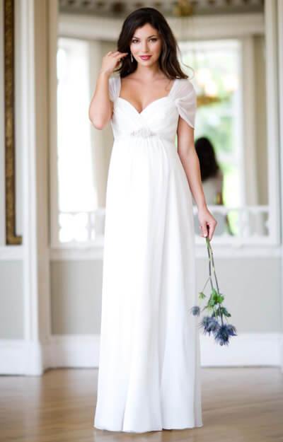 Silk Sophia Maternity Wedding Gown (Ivory) by Tiffany Rose