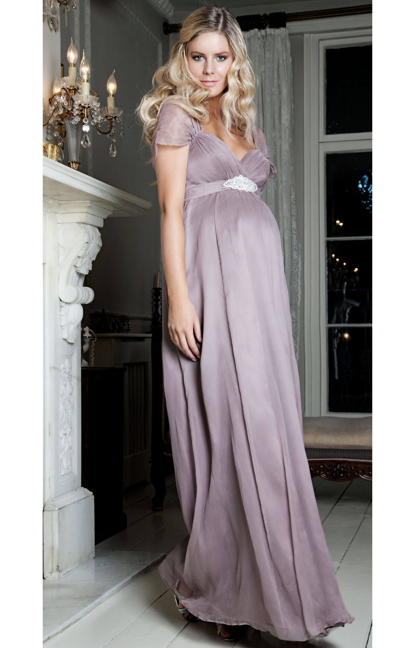 3be29804dc203 Silk Sophia (Ashen Mauve) - Maternity Wedding Dresses, Evening Wear ...
