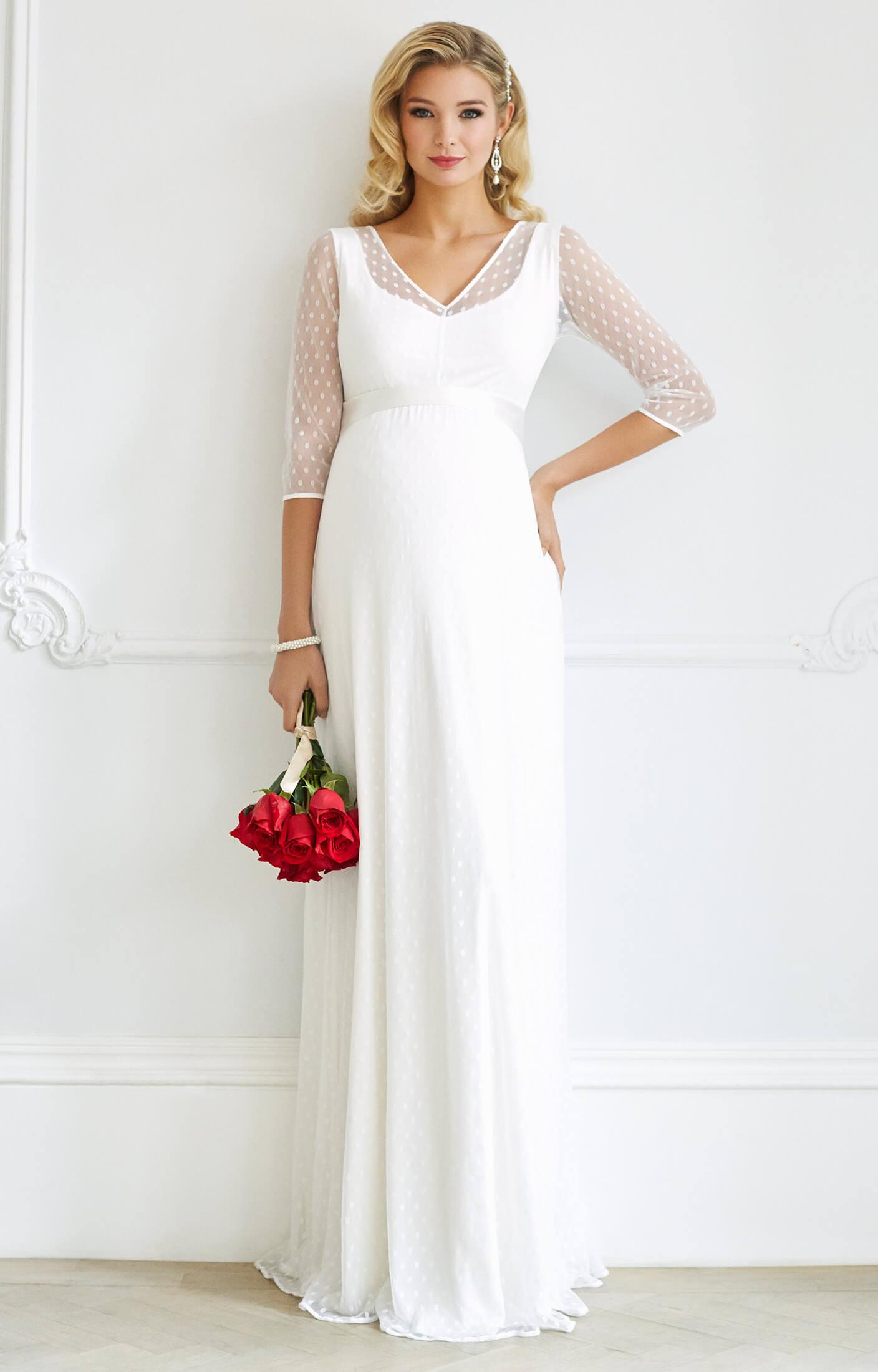 Silvia maternity wedding gown ivory maternity wedding for Ivory maternity wedding dresses