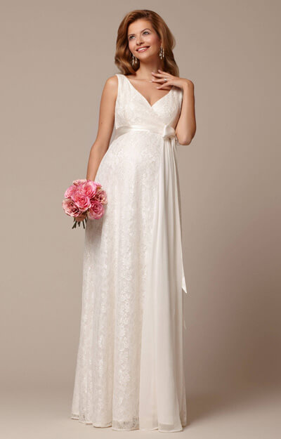 Thea Maternity Gown Long Ivory by Tiffany Rose