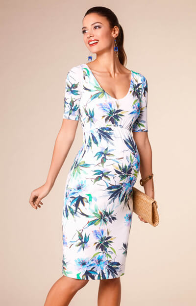 Tilly Maternity Shift Dress Inky Tropics by Tiffany Rose
